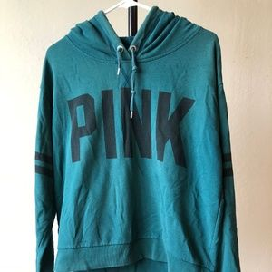 Victoria's Secret PINK Retro Hoodie (Teal) (M)